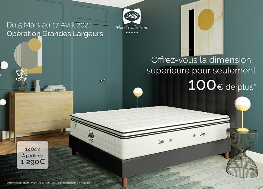 offre grandes largeurs sealy 2021